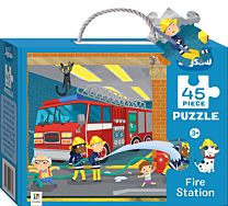 Junior Jigsaw 45 Piece Puzzle. Fire Station