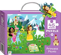 Junior Jigsaw 45 Piece Puzzle. Princess Picnic