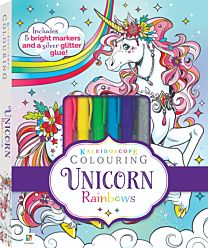 Kaleidoscope Colouring. Unicorn Rainbows