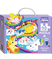 Junior Jigsaw 45 Piece Puzzle. Unicorn Race