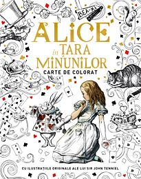 Alice in Țara Minunilor. Carte de colorat
