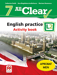 All Clear. English practice. Activity book. L 2. Lectia de engleza (clasa a VII-a)