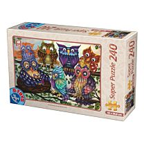Puzzle 240 piese Owls -2