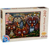 Puzzle 240 piese Owls – 1