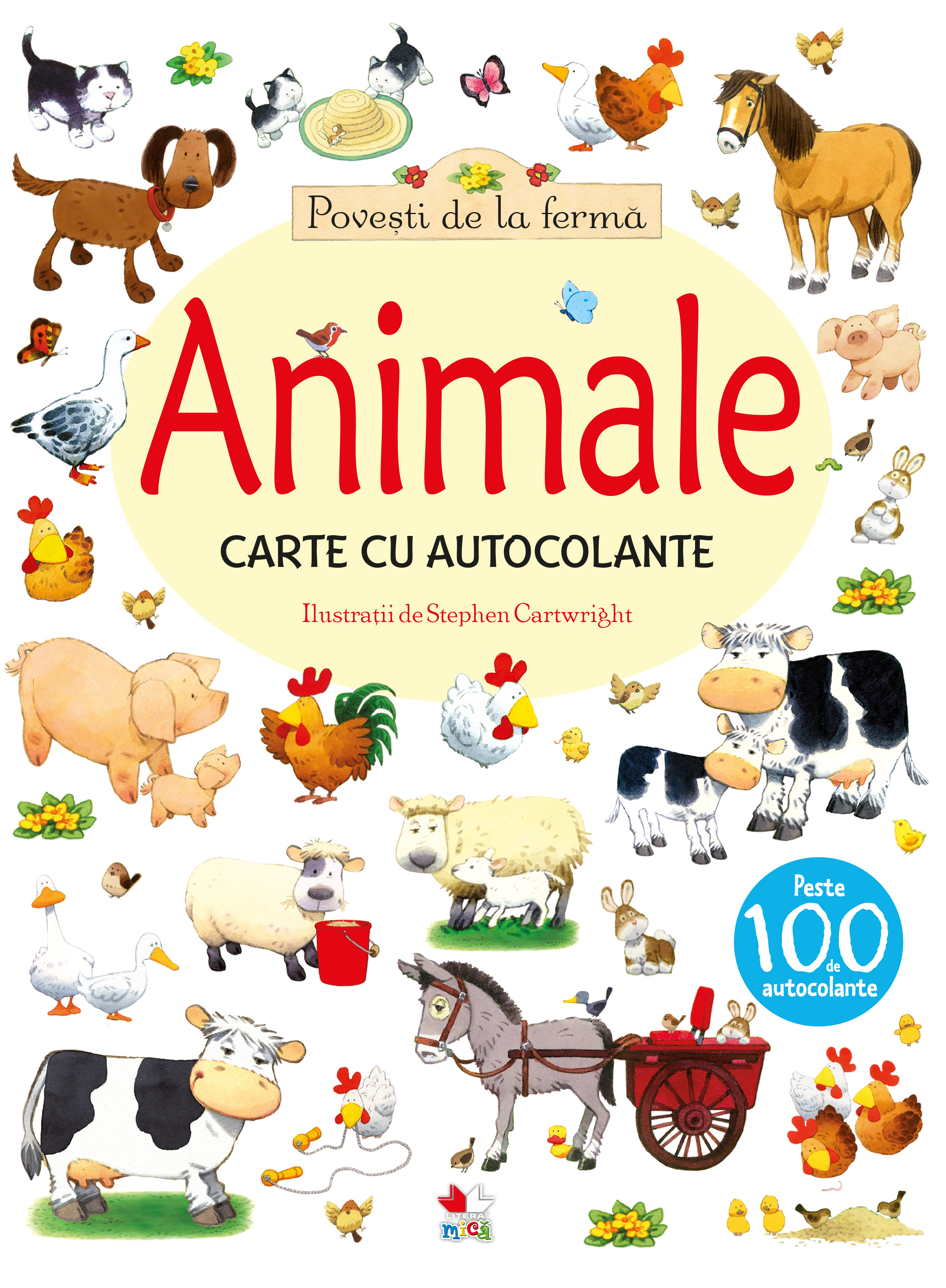 Povești de la fermă. Animale. Carte cu autocolante imagine 2021